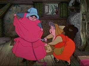 Sleeping Beauty Dress Scene
