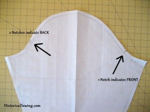 Sleeve Cap with Notches