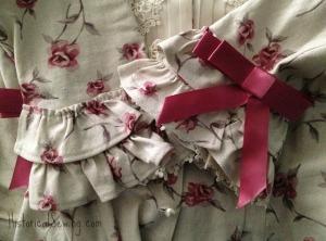 Sleeve ruffles & trim