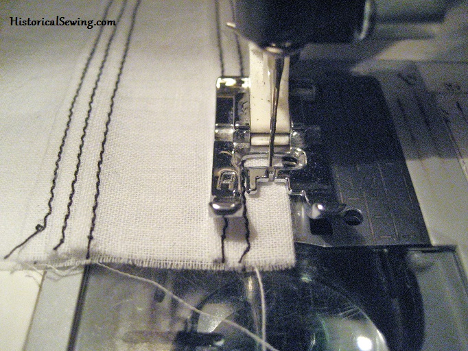 Stitching on the fold