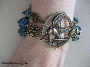 Teal Bead Mockingjay Bracelet