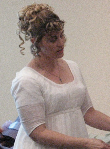 Corset too high under Regency dress