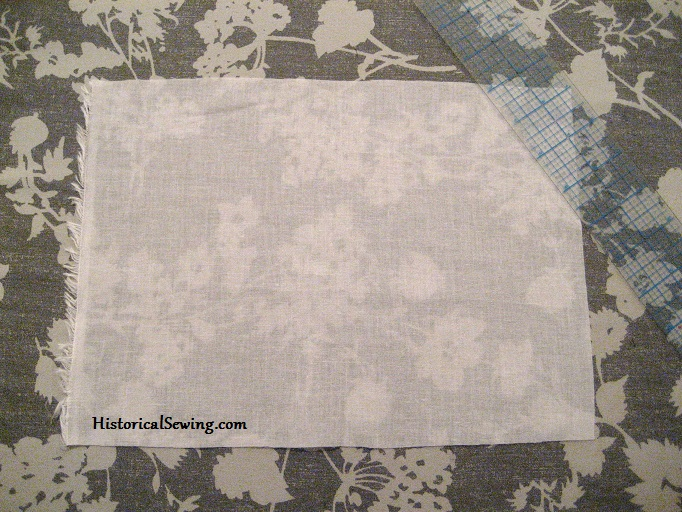 Cotton voile swatch for pintuck tutorial