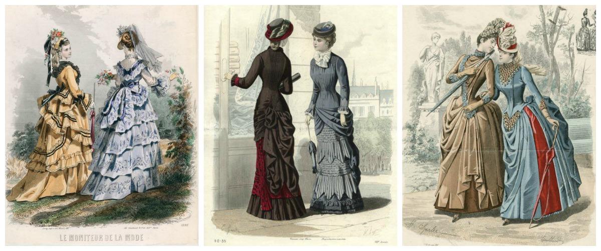 Victorian Bustle Dresses 1872, 1881, 1888