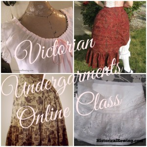 Victorian Undergarments Class Collage