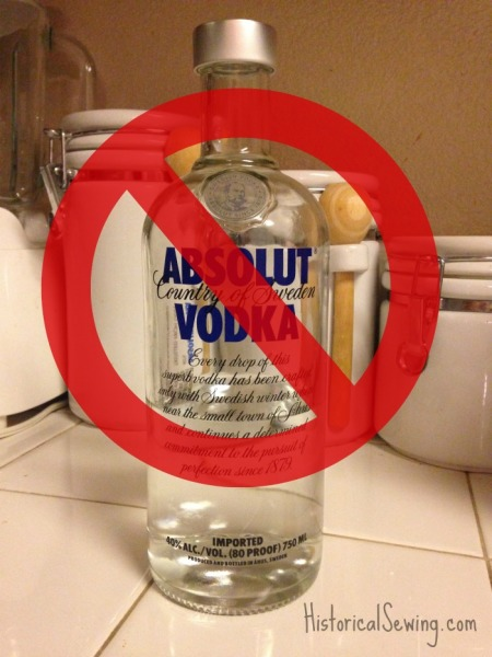 Vodka -do not use the good stuff