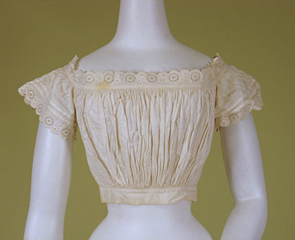 Whitework Underbodice 1860-90 from Whitaker Auction
