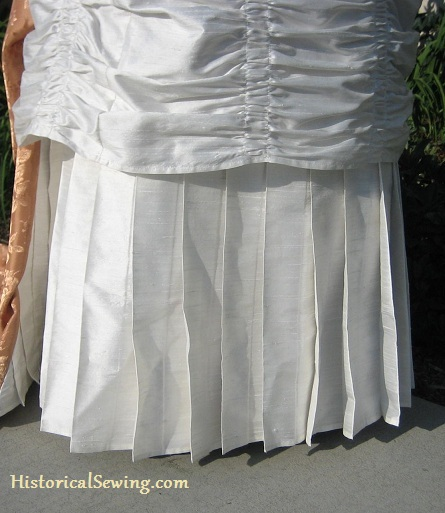 Techniques for Easier Pleating in 19th Century Costuming