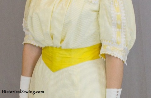 Yellow Edwardian Belt