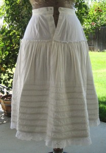 Corded petticoat with yoke