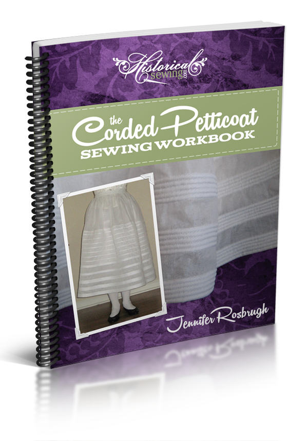 Click to order The Corded Petticoat Sewing Workbook in spiral-bound format.
