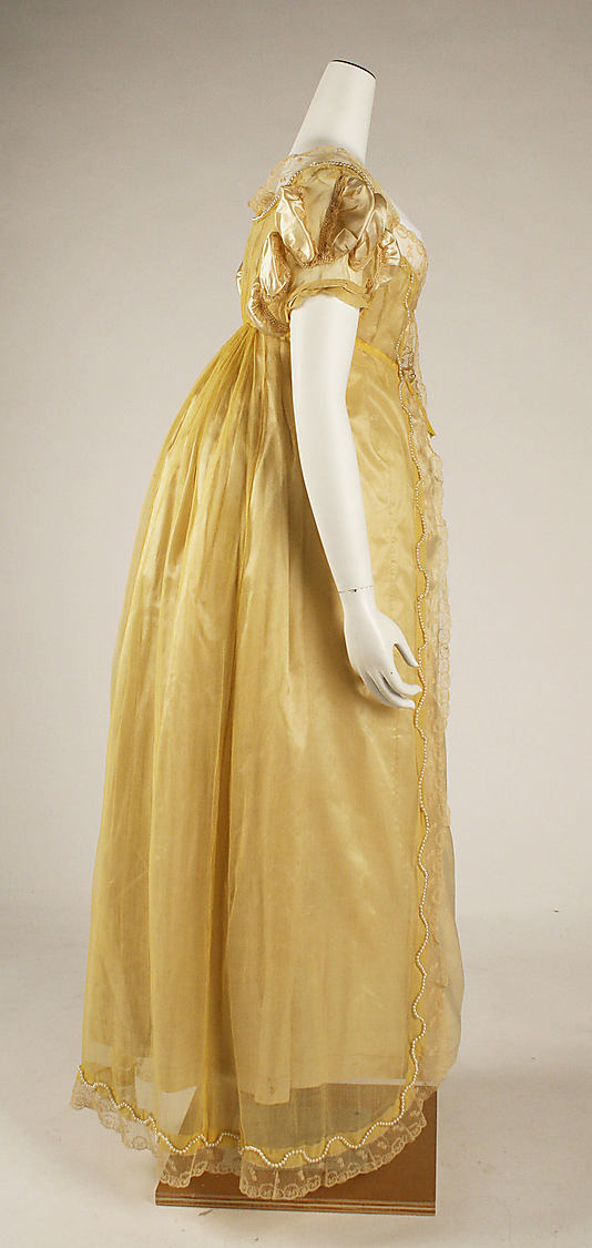 1811 Yellow Sheer Ball Gown & Big Butts of the 19th Century