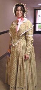 1844 Striped Summer Dress