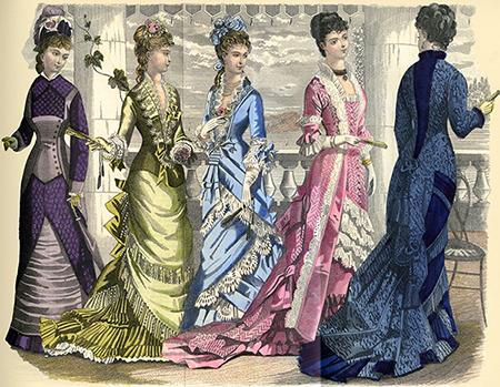 Bustle Lady  Fashion Plate