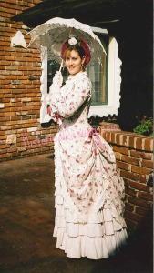1883 Summer Rose Tea Dress