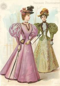 1896 April Delineator Suits