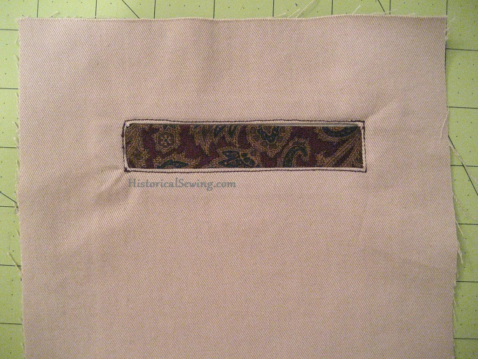 Sewing Single Welt Pockets Historical Sewing