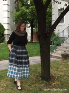 A Plaid Chore Skirt