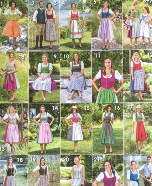 For the Love of Dirndls – Pattern Options – Historical Sewing