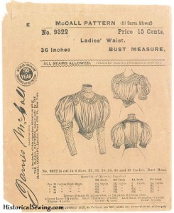 The 1905 Bodice Mockup in Real Fabric